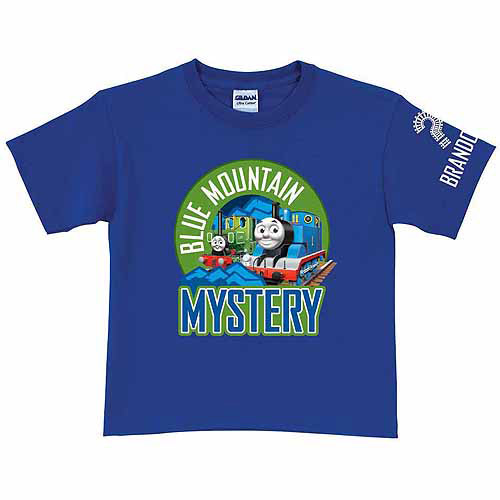 Personalized Thomas & Friends Blue Mountain Mystery Toddler Boy Royal Blue T-Shirt