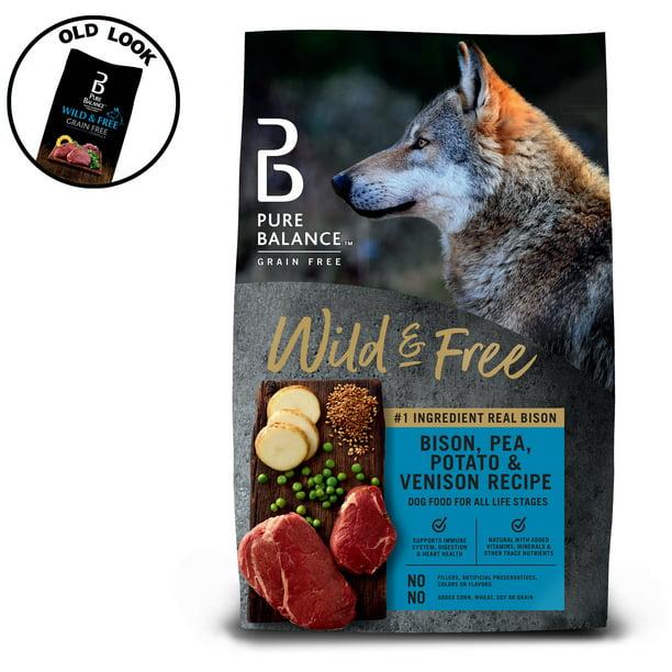 Pure Balance Grain-Free Wild & Free Bison, Pea, Potato & Venison Recipe Dry Dog Food, 24 lb