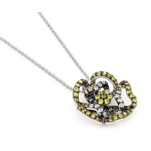 Plutus Partners Ferroni Sterling Silver Swarovski Elements Zirconia Butterfly Necklace
