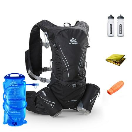 AONIJIE Hydration Vest Running Water Pack Vest Marathon Hydration Backpack Extra Water Bottle Emergency Blanket Whistle 2L Water Bladder - Walmart.com