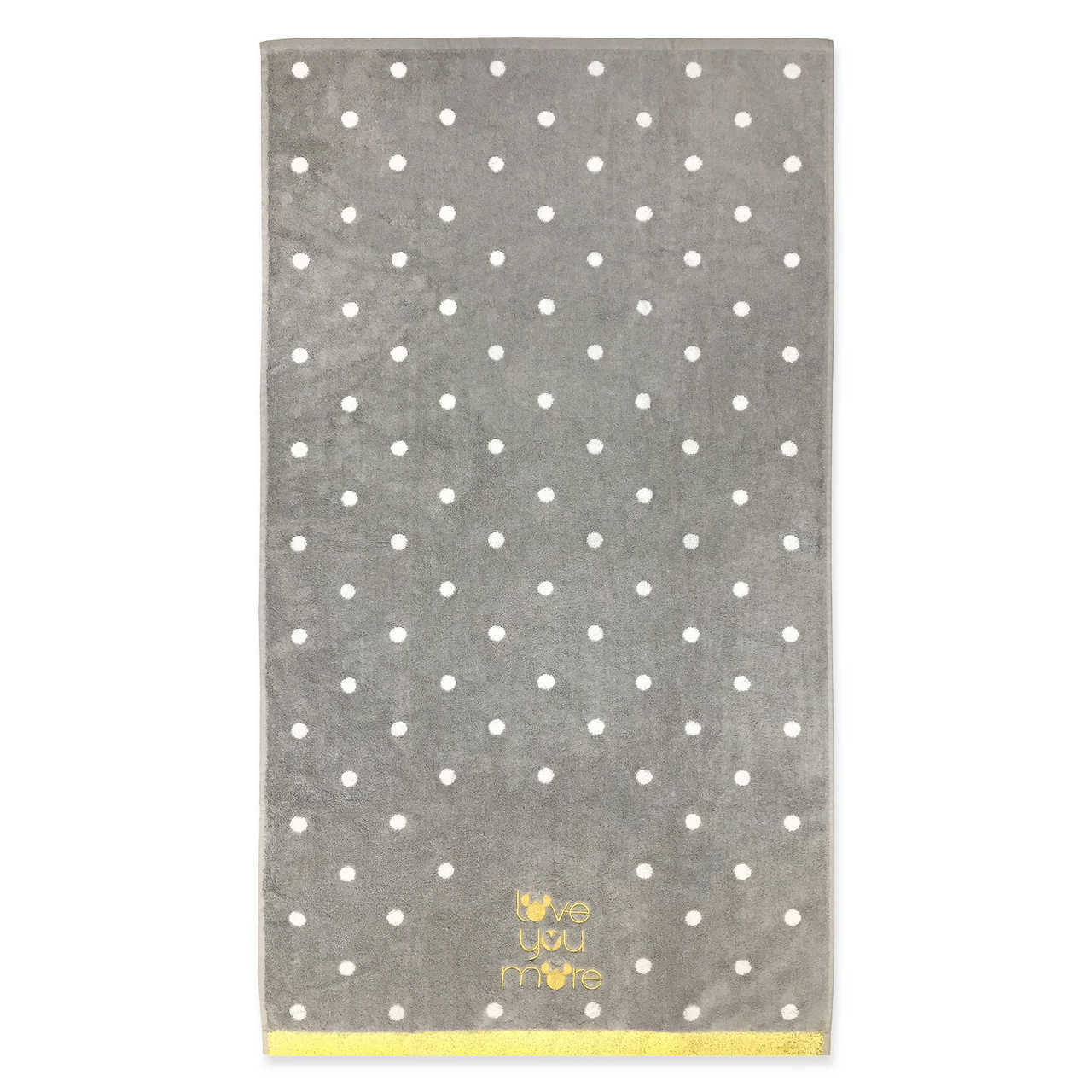 Disney Minnie Mouse 'Love You More' Bath Towel