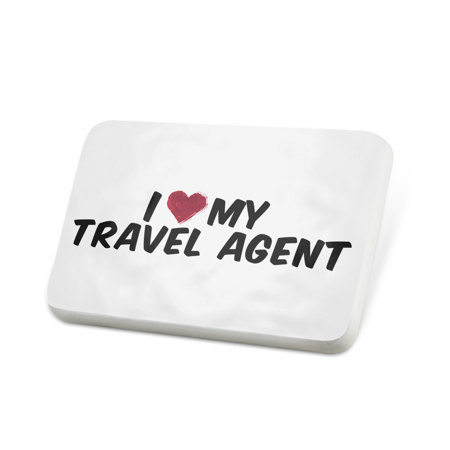 Porcelein Pin I heart love my Travel Agent Lapel Badge – NEONBLOND