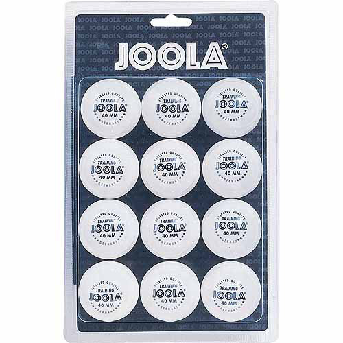JOOLA 40mm Table Tennis Training Ball 12 Count Set (1-Star) - White