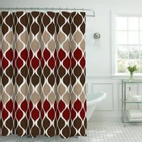 Product Image Bounce Comfort Oxford Weave Textured 13 Piece Shower Curtain Set With Metal Roller Hooks
