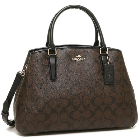 Coach F58310 Small Margot Carryall In Signature Imitation Gold Brown Black