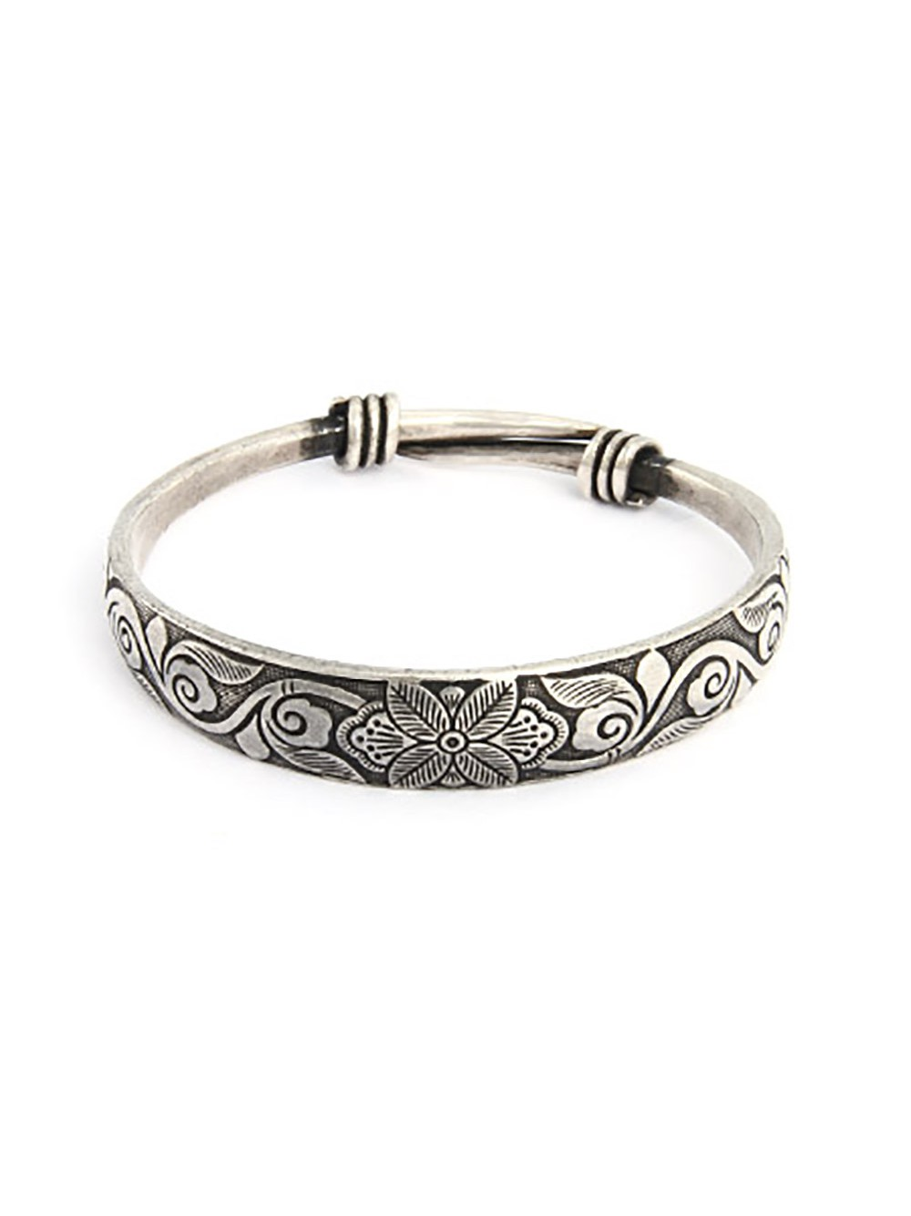 Silver Flower Bangle Silver Bangle Agapanthus Flower Of Love Isles of Scilly Botanical Jewellery Made In Cornwall |Easter gift