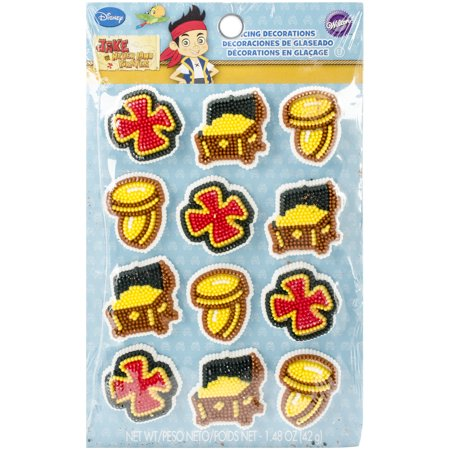 Royal Icing Decorations 12/Pkg-Jake & The Never Land Pirates (Pirate Decoration Ideas)