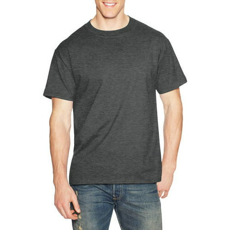 0c5923c74 Hanes Men's Beefy-T Crew Neck Short Sleeve T-Shirt, up to 6xl - Walmart.com