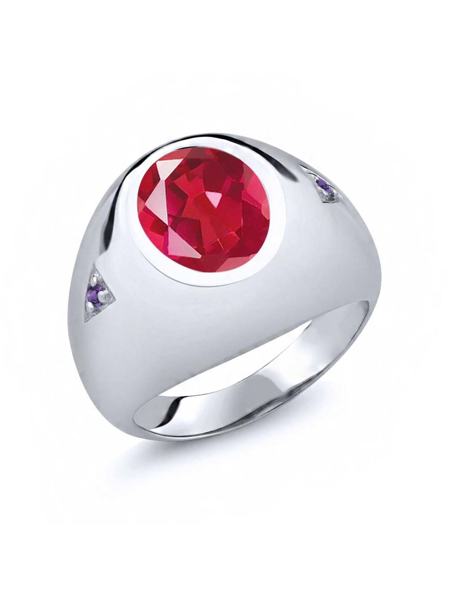 4.08 Ct Last Dance Pink Mystic Quartz Purple Amethyst 925 Silver Men's Ring by