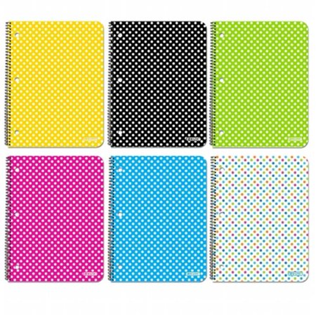 Dotted Spiral - Bazic Products 5482-24 Subject Polka Dot Spiral Notebook - 70 ct.