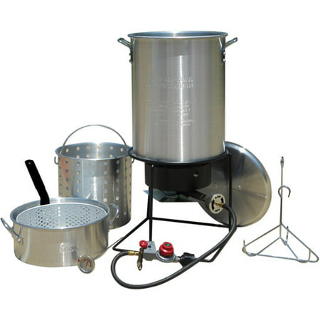 - King Kooker #1265BF3 - Frying/Boiling Package with 2 Aluminum Pots