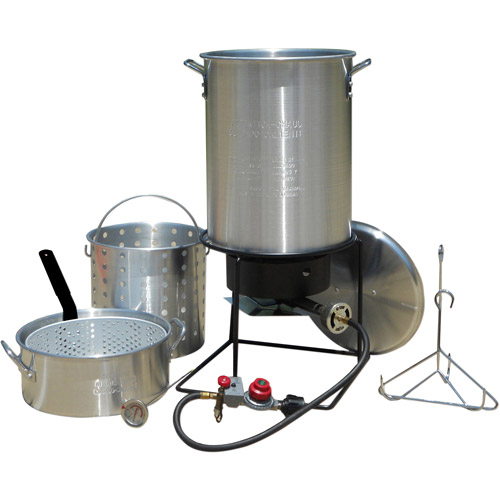 King Kooker Frying Boiling Package with 2 Aluminum Pots