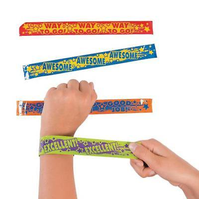 IN-13707524 Award Saying Slap Bracelets Per Dozen (Slap Bracelets 90s)