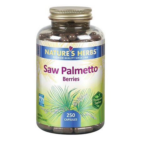 Natures Herbs Saw Palmetto Berries Capsuels, 250 ea
