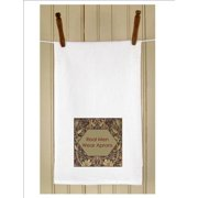 """Set of 3 Humorous """"Real Men Wear Aprons"""" White Flour Sack Kitchen Hand Towels 29"""""""