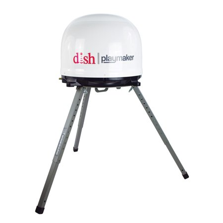 Winegard PL7000R Dish Playmaker Bundle (BONUS Tripod) With Dish Wally Receiver - Portable RV Satellite Antenna, Dish Wally Receiver Bundle, & TR-1518 Carryout Tripod