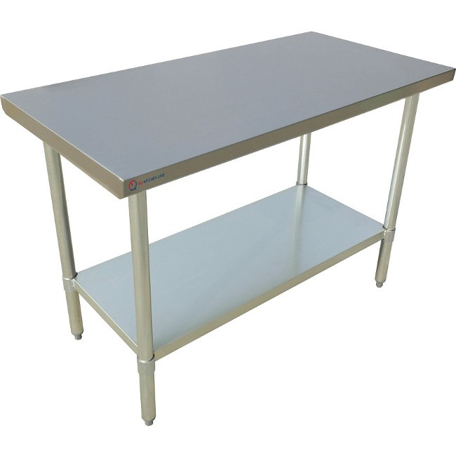 "EQ Kitchen Line Stainless Steel Restaurant Kitchen Prepare Work Surface Table 48""Lx30""Wx34""H"
