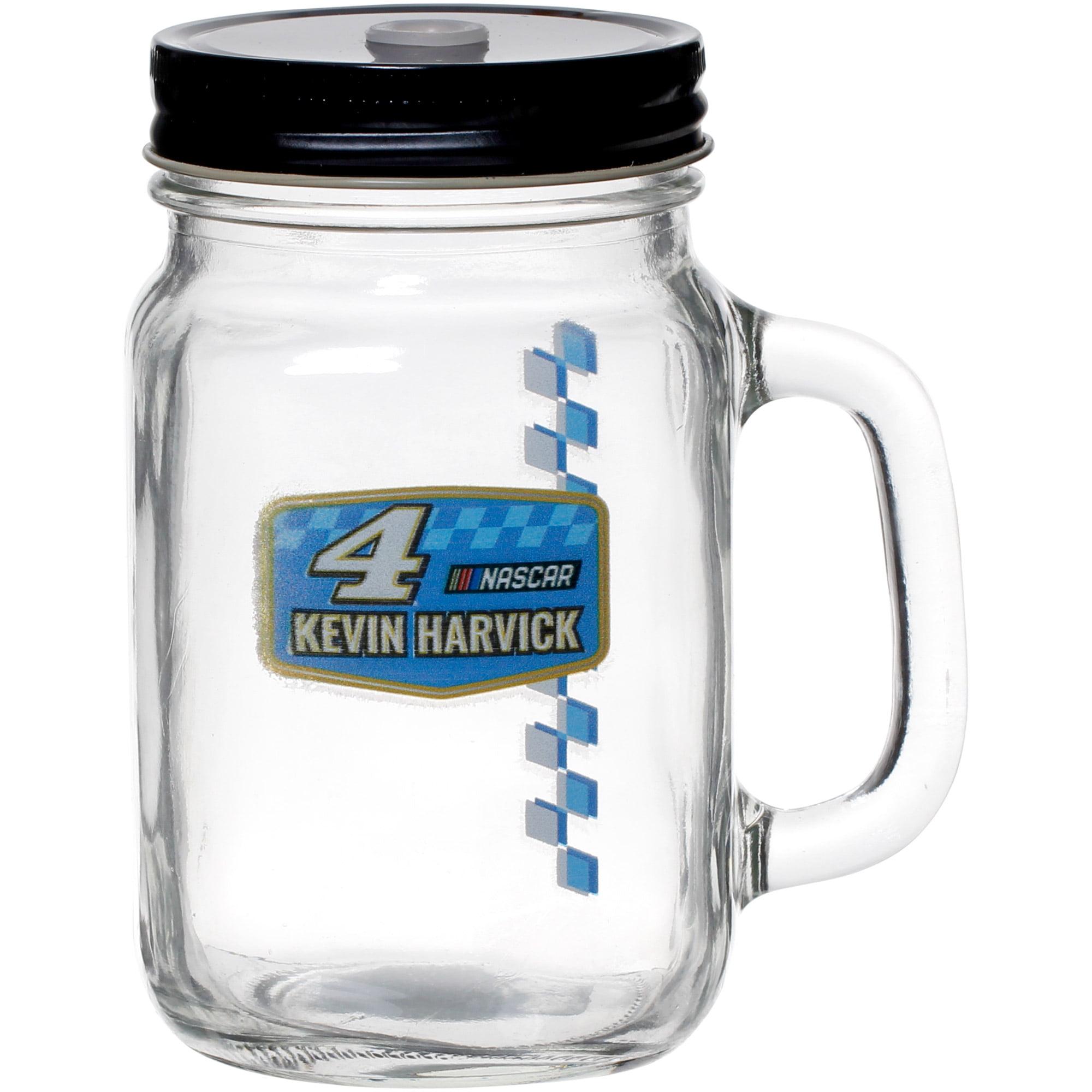 Kevin Harvick 16oz. Mason Jar with Lid & Straw - No Size