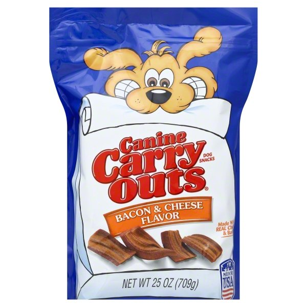 Canine Carry Outs Bacon & Cheese Flavor Dog Snacks, 25-Ounce Bag