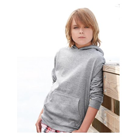 Fleece Youth Midweight Hooded Pullover Sweatshirt