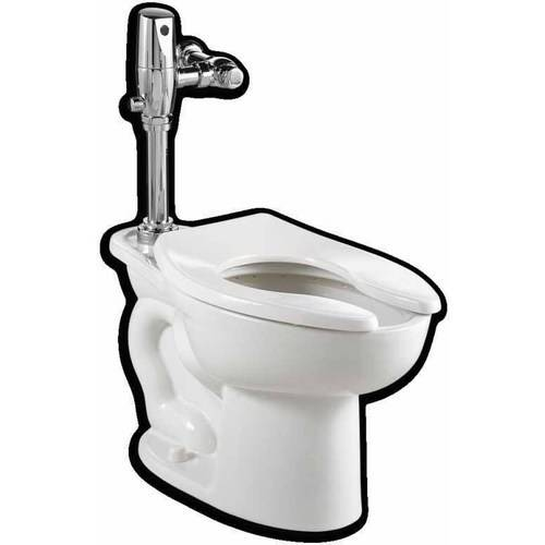 American Standard 3043.528.020 Commercial Madera Toilet with Selectronic DC Flushing Valve Combo, White