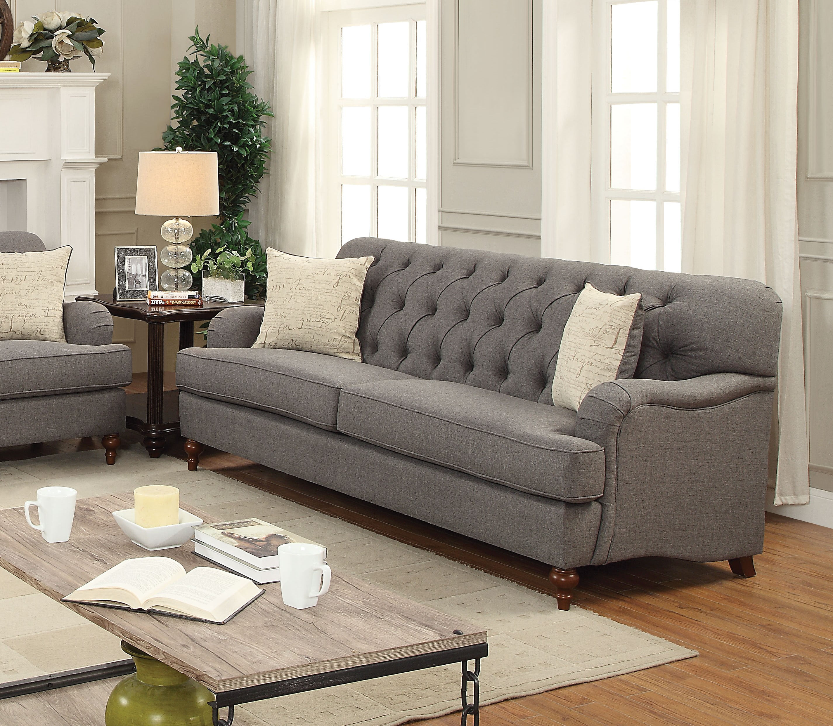 """ACME Alianza 85"""" Sofa with 2 Pillows in Multiple Colors by Acme Furniture"""