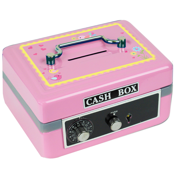 Personalized Lovely Birds Cash Box