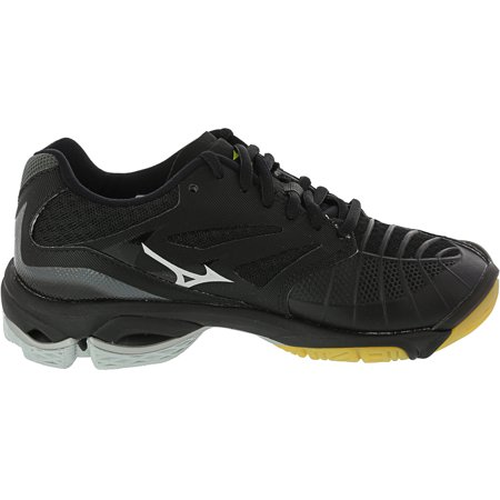 Mizuno Wave Lightning Z3 Volleyball Shoe - 7M - Black / Silver / Yellow - image 1 de 3