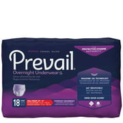 Prevail Overnight Absorbency Protective Underwear for Women, Small/Medium, 18 count
