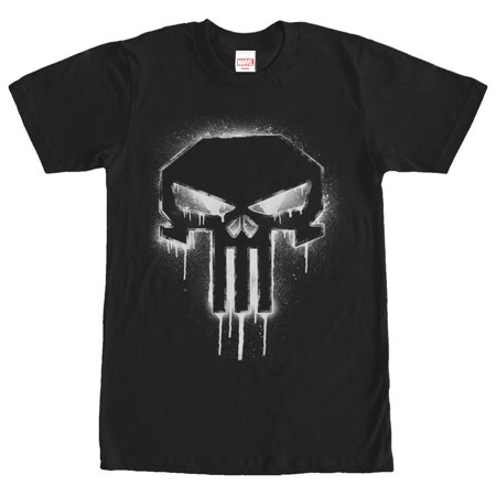 Marvel Men's Punisher Drip Skull Symbol T-Shirt (Punisher Shirt)