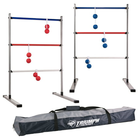 Triumph All Pro Series Press Fit Outdoor Ladderball Set Includes 6 Soft Ball Bolas and Durable Sport Carry