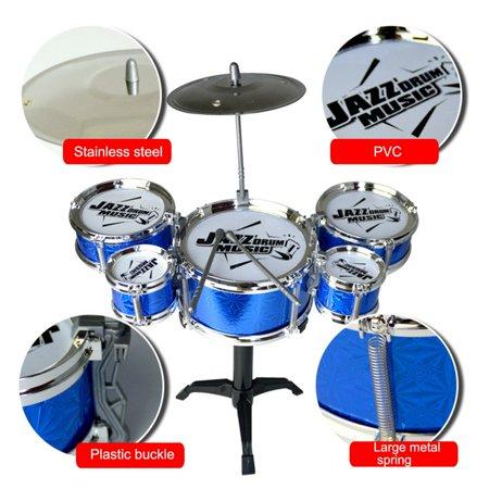 Jazz Drum Kits (Children Musical Instrument Toy Simulation Jazz Drum Drumsticks Kit for)