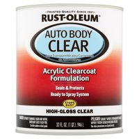 Product Image Rust-Oleum Auto Body Clear Acrylic Clearcoat Formulation High-Gloss Clear, 32 fl