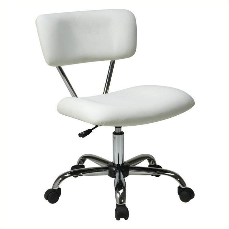 Pemberly Row Task Office Chair in White - image 1 of 1