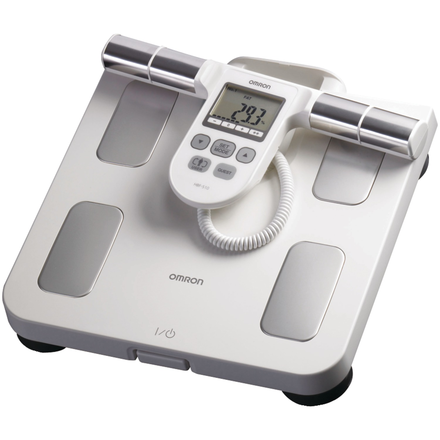 Omron Hbf-510w Full-body Sensor Body Composition Monitor & Scale With 5 Fitness Indicators