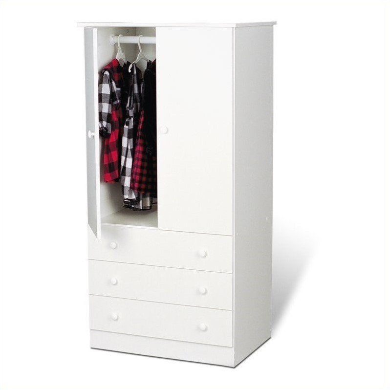Prepac White Juvenile TV/Wardrobe Armoire