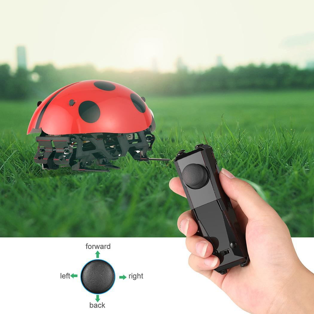 Holiday Specials!3 Different Control Mode Remote Control Smart Ladybug Insect Robot Toy DIY Robot Kit CYBST
