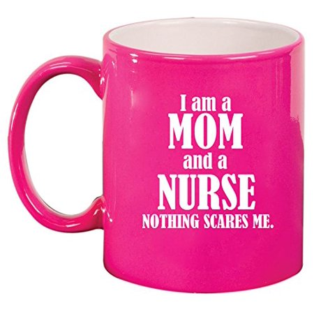 Ceramic Coffee Tea Mug Cup Nurse Mom (Pink) - Nurse Coffee Mug