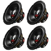 Boss Audio 10-Inch Single Voice Coil 1200 Watt Max Subwoofer (4 Pack)   P10SVS