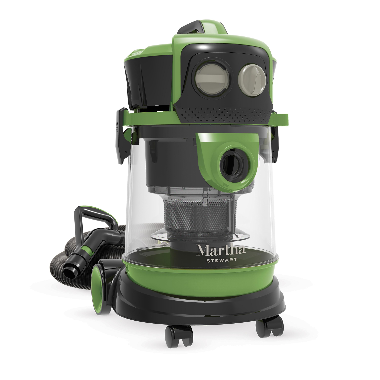 Martha Stewart MTS-WDV40 Ultra-Portable Wheeled Multi-Cyclone Wet/Dry Vacuum | 4 Gallon | 8.5-Amp | 80 CFM | Included Accessory Bundle