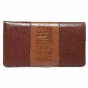 Christian Art Gifts 362857 Checkbook Cover-Steadfast Love - Tan & Brown
