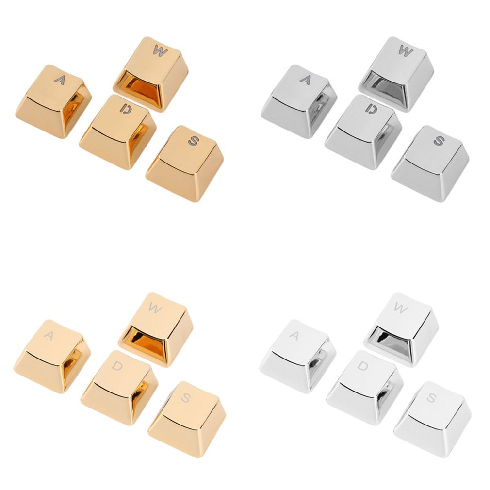 W A S D Mechanical Gaming Keycap 4 Key Caps Keyset For Gamer Gaming Keyboards, Zinc Alloy