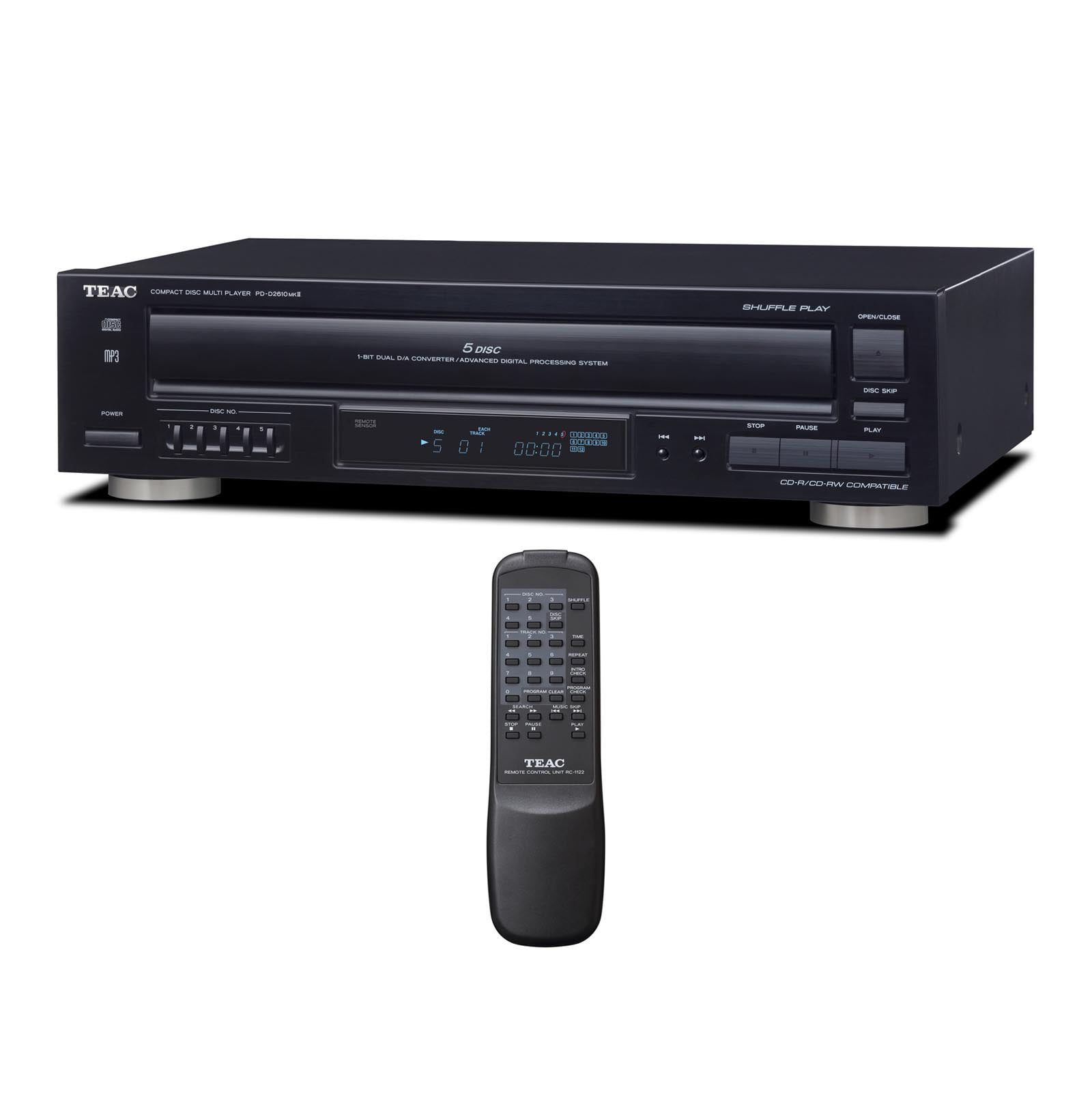 TEAC PD-D2610MK2 5-Disc CD Player with Remote by TEAC