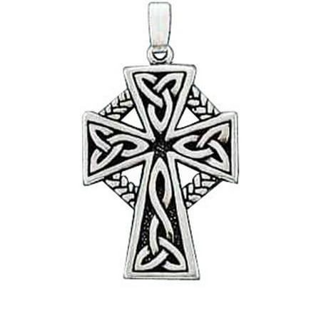 Connemara Marble Celtic Cross (Sterling Silver 16