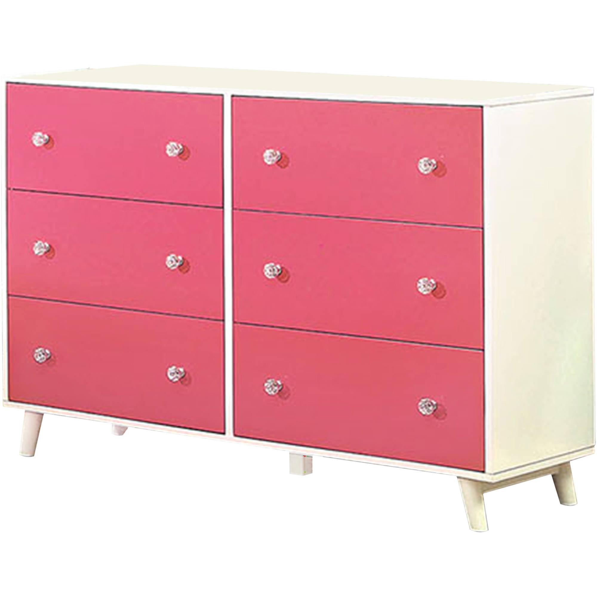 Venetian Worldwide Alivia Dresser Finished in Pink/White