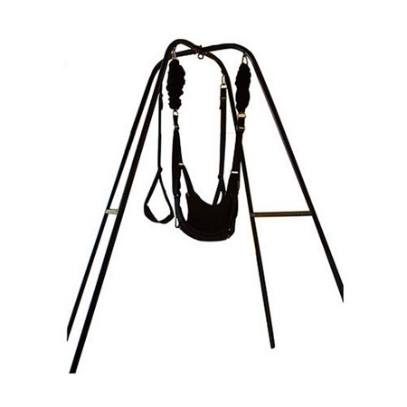 Heavy Duty Indoor Swing Stand with Bungee Swing  Set Compatible to All Indoor Porch Swings ()