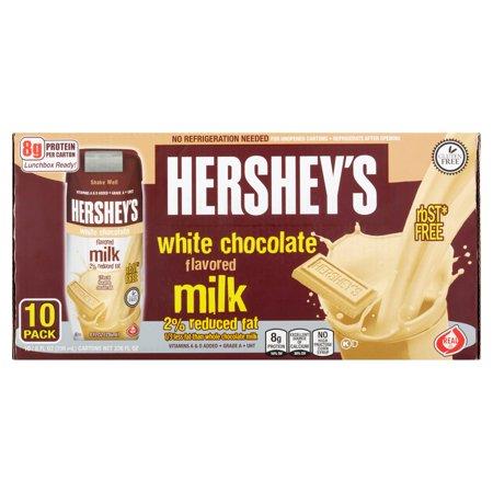 Hershey's 2 percent White Chocolate Milk , 10 count ...