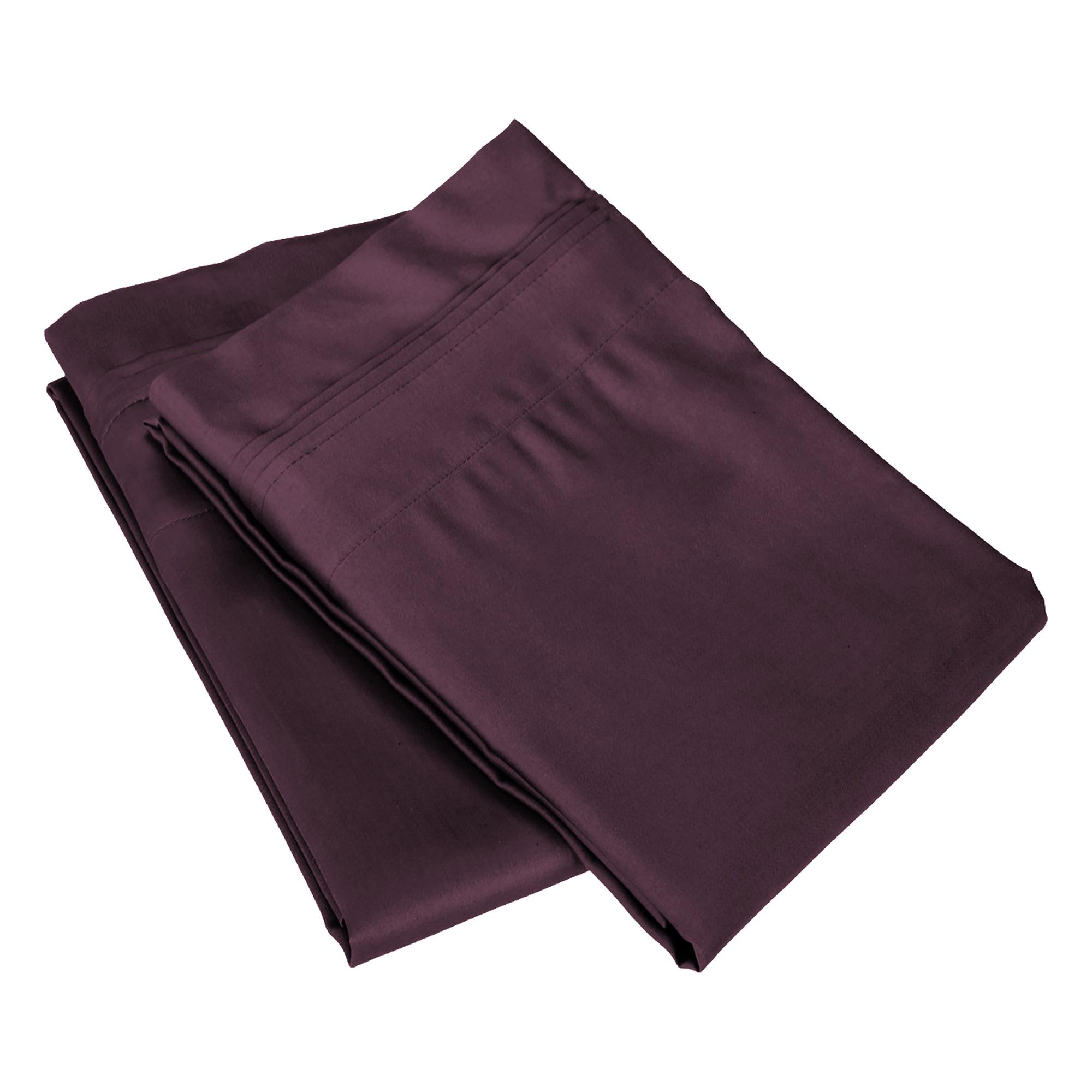 Superior 650 Thread Count Egyptian Cotton Solid Pillowcase Set