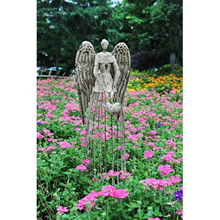 Antiqued Metal Garden Angel statues for Outdoor Decor Best Gift