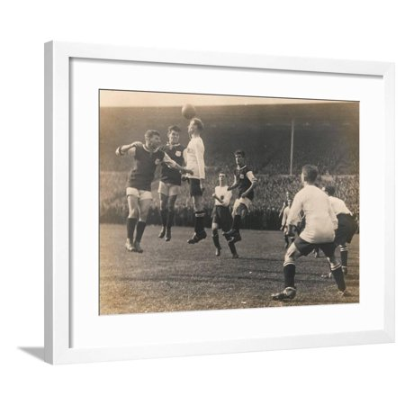 Bolton Wanderers vs. West Ham United, FA Cup Final, 28th April 1923 Framed Print Wall Art By English (Liverpool Vs West Ham Fa Cup Final)